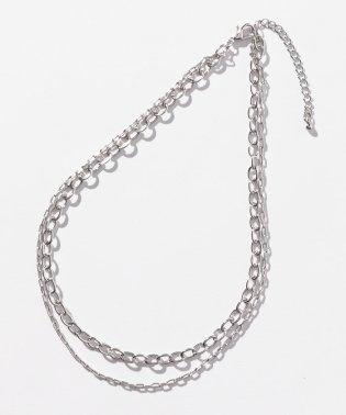 シルバー2連ネックレス