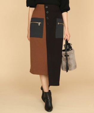 GRANDTABLE(グランターブル) アシンメトリーバイカラースカート