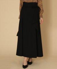 GRANDTABLE(グランターブル) サイドリボンラッフルロングスカート