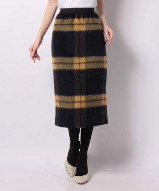 【セットアップ対応】シャギーチェックタイトスカート