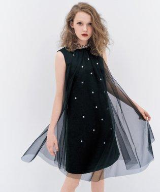 ソフトチュール*マキシムサテン ドレス