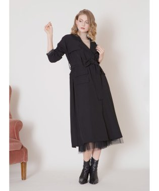 Flap Work Trench Coat