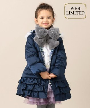 【一部店舗限定カラー有り/90-130cm】プリンセスシルエット 中綿 コート