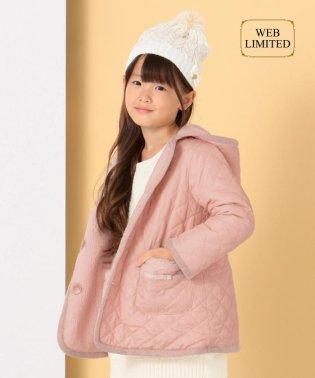 【10周年WEB限定カラー/110-140cm】ボア×キルトリバーシブル コート