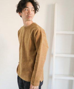 コーデュロイロングスリーブTシャツ