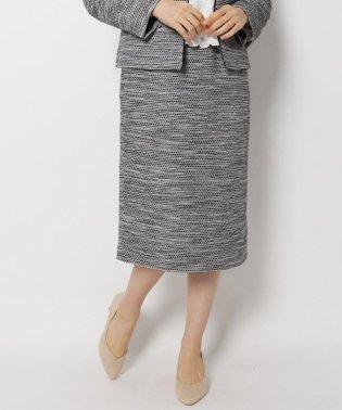 【セレモニー・入卒】【34(SS)、42(LL)WEB限定サイズ】キャリーマンツイードナロースカート