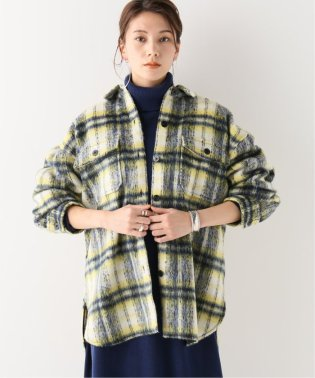 シャギーチェック CPOモデル ビッグシャツジャケット◆