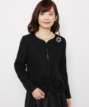 【入卒・WEB限定サイズあり】ノーカラーラメツイードジャケット