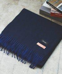 BEAMS / ヘリンボーン編み カシミヤ マフラー