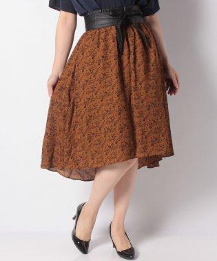SET2点 ベルト+単色柄スカート