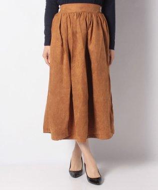 ・マイクロスエードフレアギャザースカート