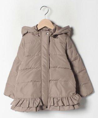 裾フリルダウンコート