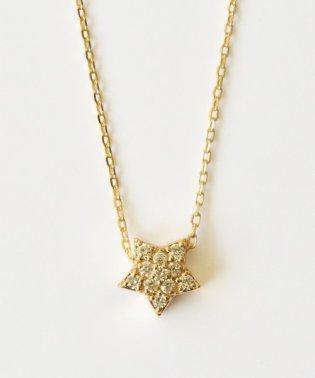K10ダイヤモンド パヴェスターネックレス( YG)