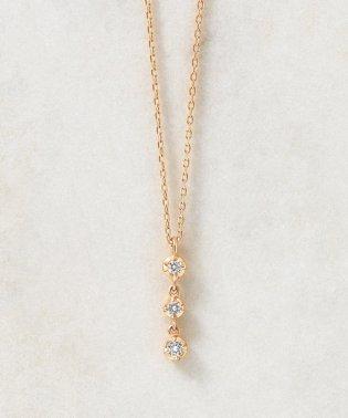 K10ダイヤモンド トリロジーネックレス( PG)