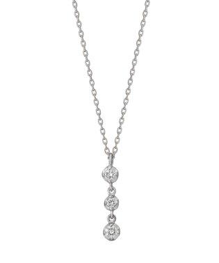 K10ダイヤモンド トリロジーネックレス( WG)