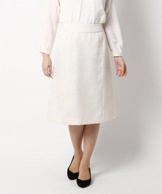 【セレモニー・入卒】【42(LL)WEB限定サイズ】セレモニーツイードAラインスカート