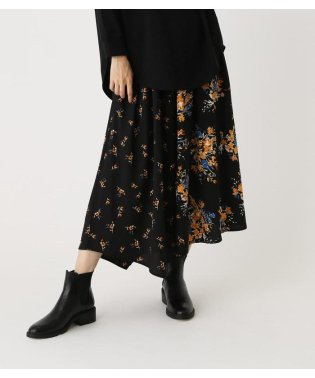 FLORAL ASYMMETRY SKIRT