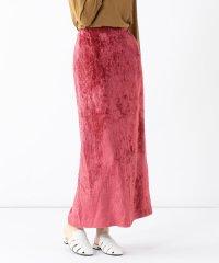 Demi-Luxe BEAMS / ストライプベロア タイトスカート