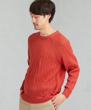 SC KNOLL リブ ラグラン クルーネックニット セーター