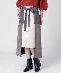 [radiate the lifedress]ボンディング配色スカート