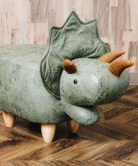 恐竜モチーフのスツール Triceratops トリケラトプス グレー