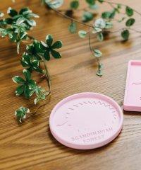 【SCANDINAVIAN FOREST】スカンジナビアンフォレスト 珪藻土コースター サークル ピンク