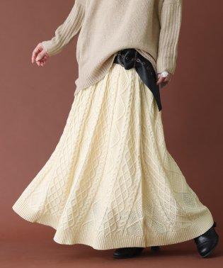 『somariケーブルニットスカート』
