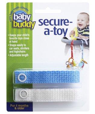 Baby Buddy ベビーバディ おもちゃストラップ2色各1本組 ブルー/ホワイト