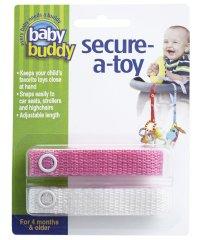 Baby Buddy ベビーバディ おもちゃストラップ2色各1本組 ピンク/ホワイト