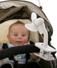 dreambaby ドリームベビー ベビーカー扇風機 クリップオン ファン ホワイト×ホワイト