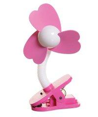 dreambaby ドリームベビー ベビーカー扇風機 クリップオン ファン ホワイト×ピンク