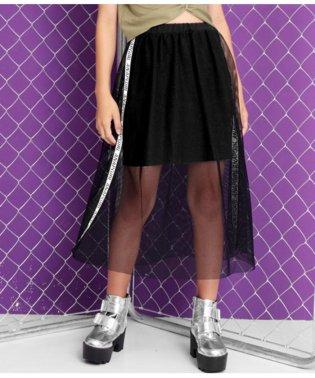 メッシュレイヤードスカート