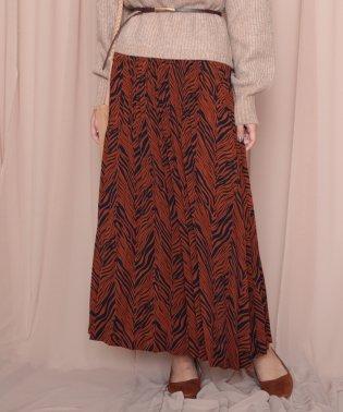 ゼブラ柄プリーツスカート