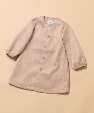 【ROPE' PICNIC KIDS】マシュマロタッチノーカラーコート