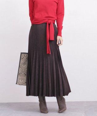 【WEB限定】Fスエードプリーツスカート