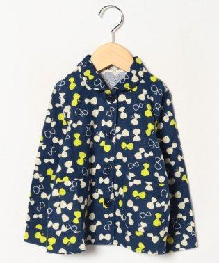 【セットアップ対応商品】ちょうちょ柄ジャケット風シャツ