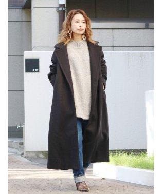 ウール混ロングコート
