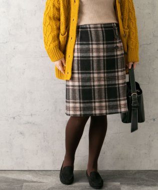 チェックリバー台形スカート
