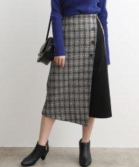 【WEB限定】ツイードチェックラップスカート