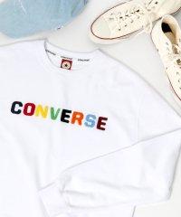 【19AW】新作 CONVERSE/コンバース カラーロゴ刺繍クルーネックスウェット