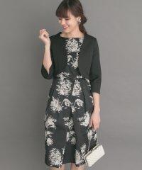 【ROSSO】フラワージャガードドレス