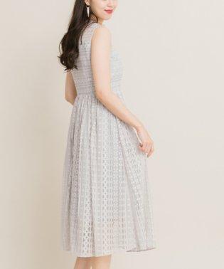 【ROSSO】ストライプレースドレス