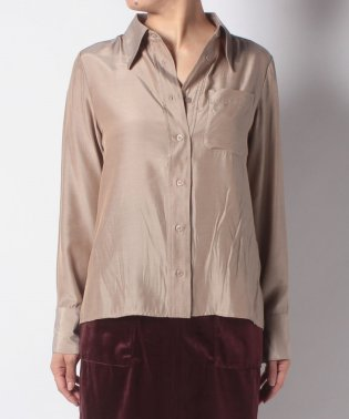 ビックカラーサテンシャツ