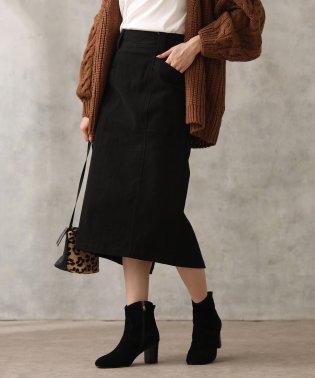 綿起毛タイトスカート