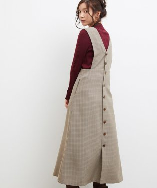 【広瀬アリスさん着用】バック釦ジャンパースカート