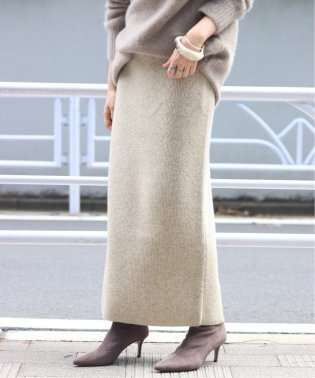 Slit Knitスカート◆