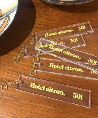 SLOBE citron. Hotel citron. クリアキーホルダー◆
