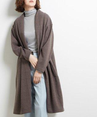 起毛テレコボリューム衿コート