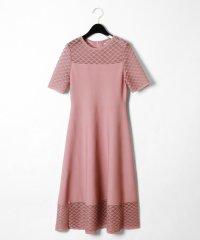 シアーニットドレス