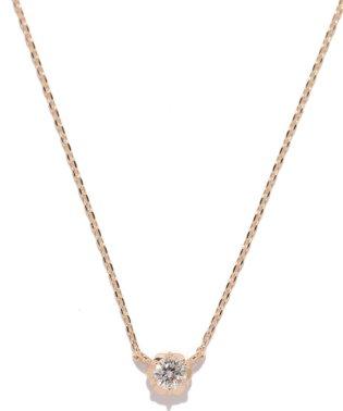 フィオレットセッティング一粒ダイヤモンドネックレス0. 07ct(YG)